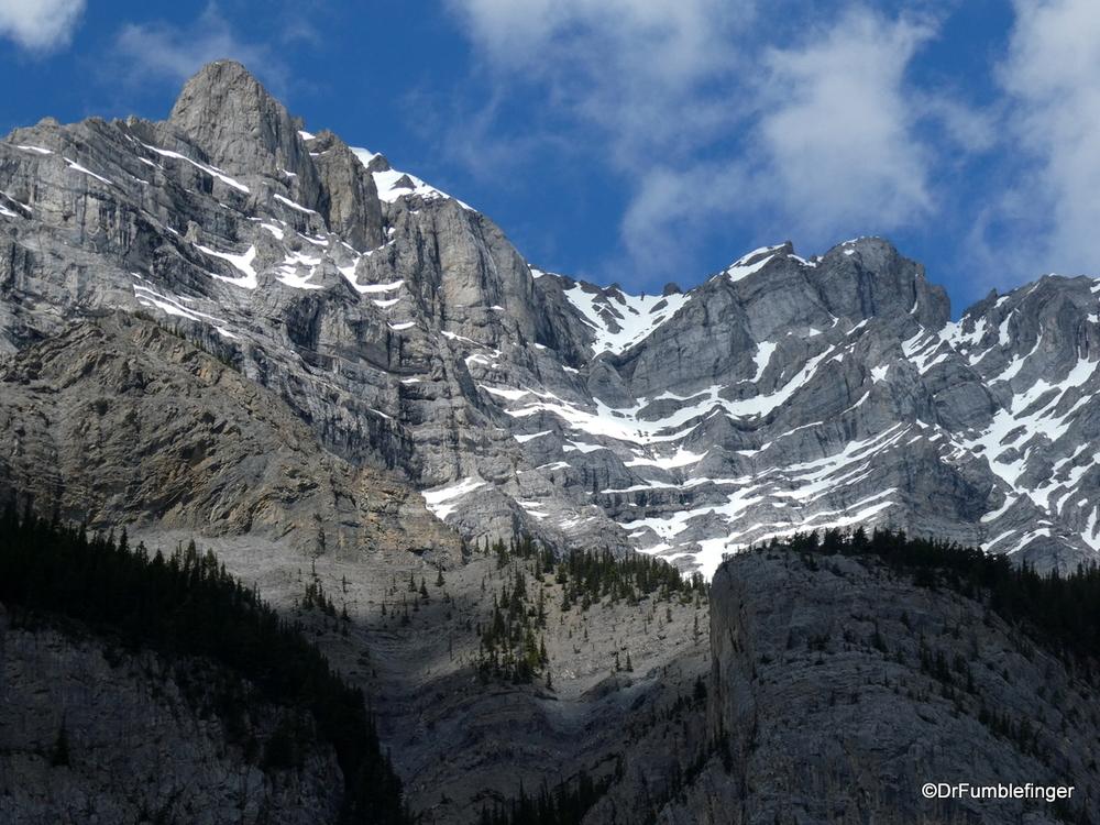 The peak of Cascade Mountain, Banff National Park