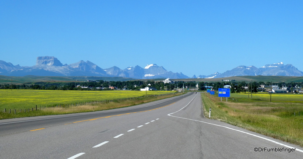 Approaching Cardston, Alberta