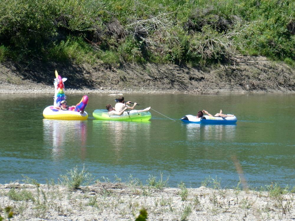 Floating down the Oldman River, Lethbridge