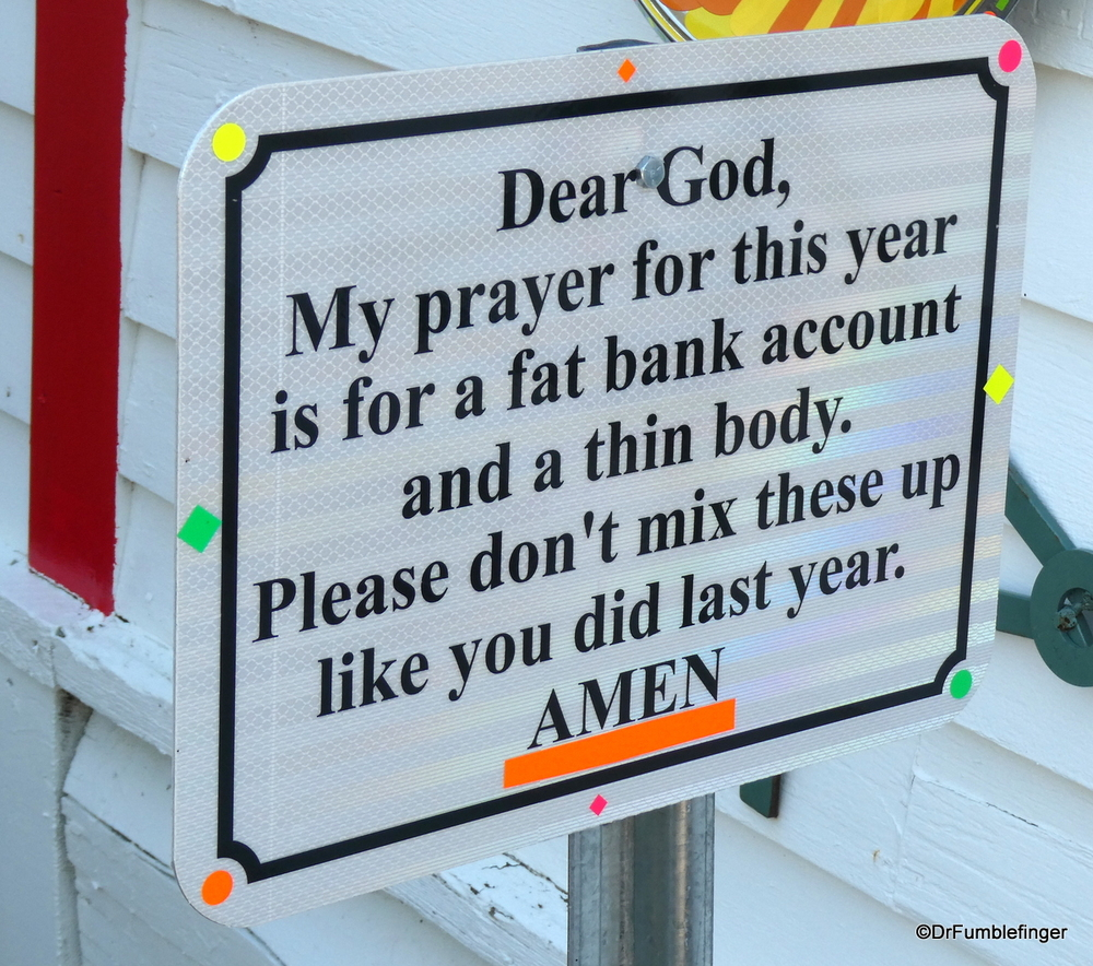 An interesting prayer, Back-in-Time Museum, Youngstown