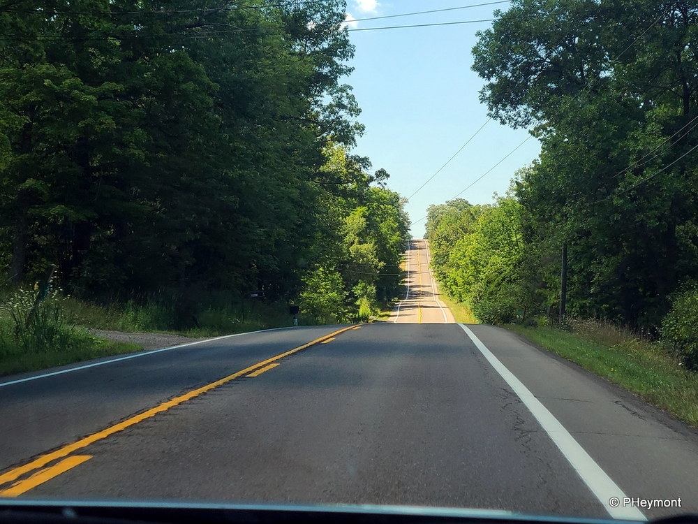Road trip, through the windshield
