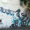 Nice piece of street art outside a Tattoo parlor, Regina