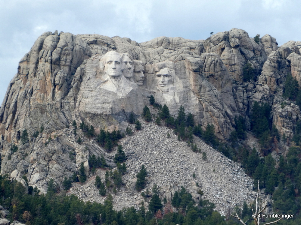 View of Mount Rushmore from Iron Mountain Drive