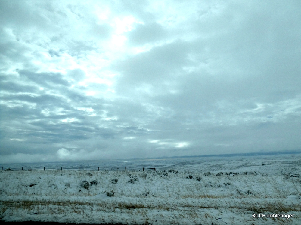 Clearing mid-October Snowstorm, Wyoming