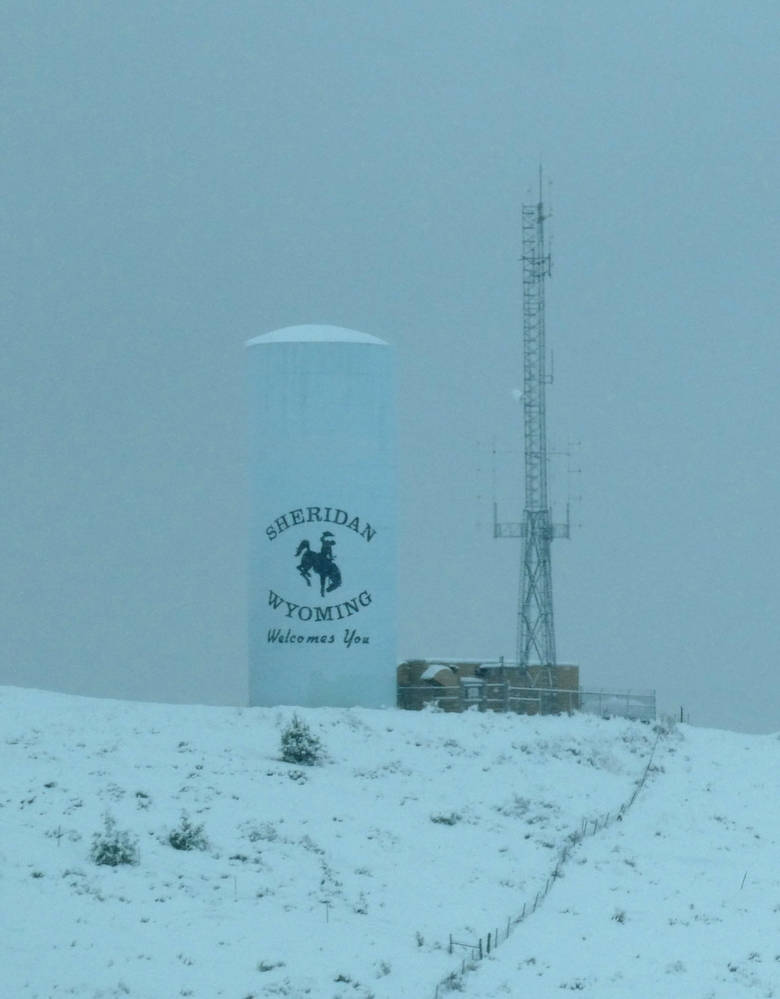 Got caught in a mid-October Snowstorm in Sheridan, Wyoming