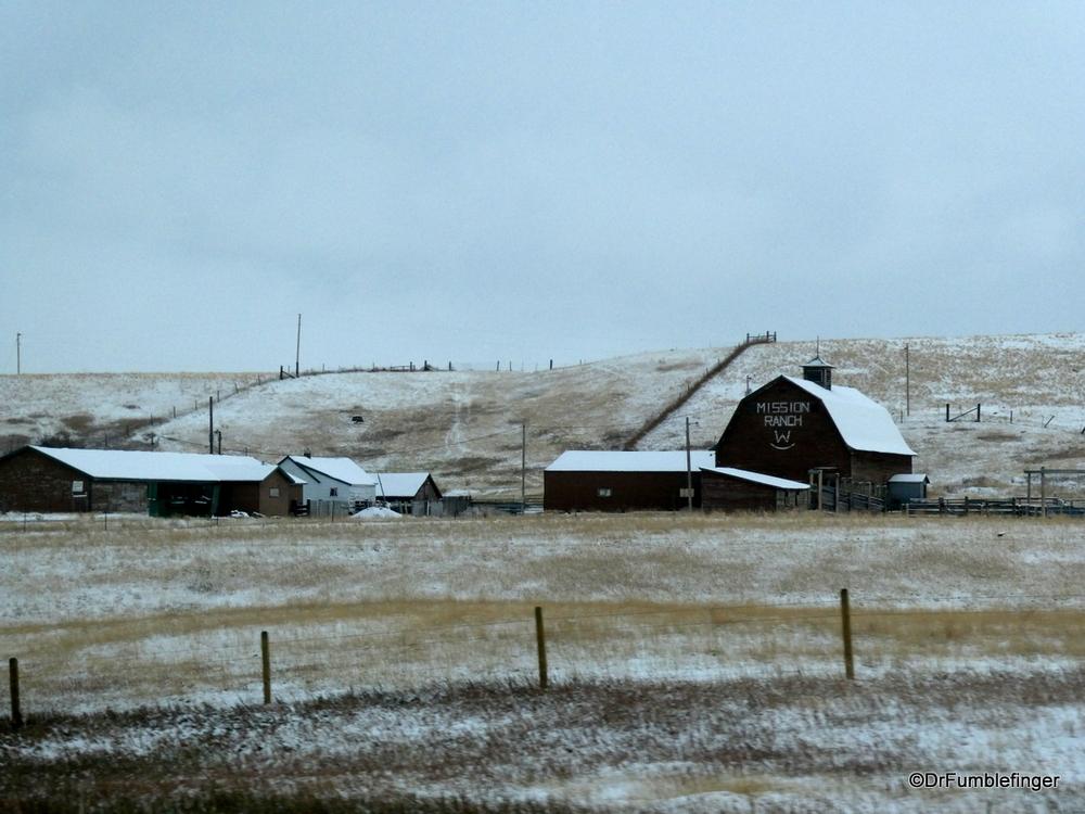 Early snowfall, Ranch near Bozeman, Montana