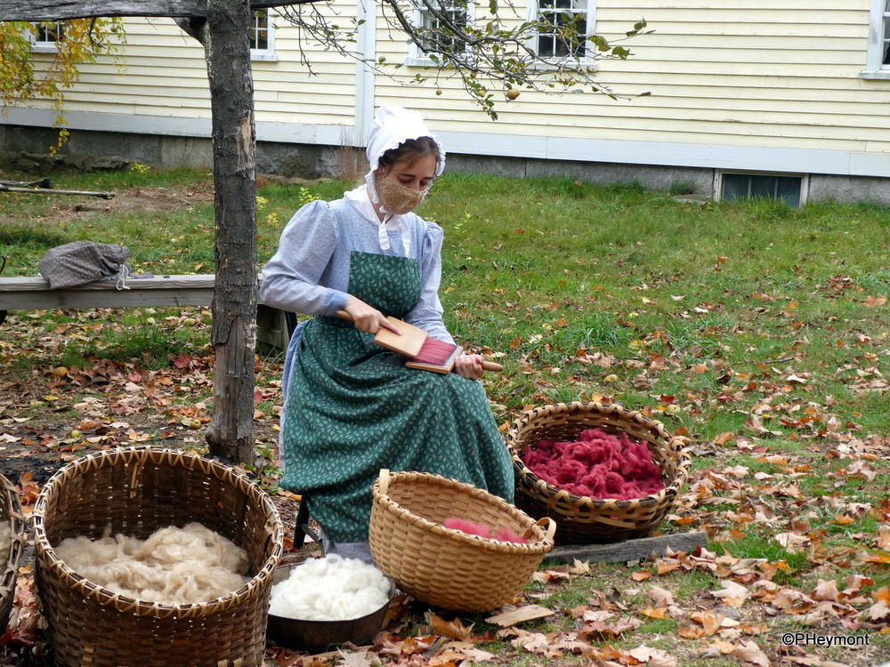 Carding Wool, 1830s-style