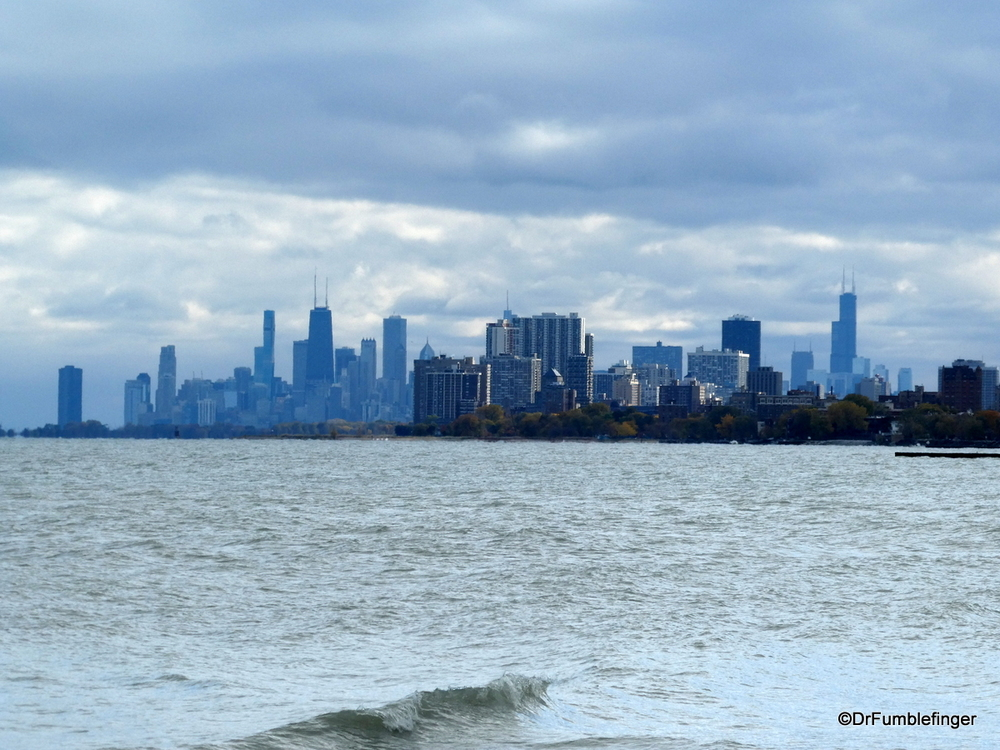 View of Chicago skyline from Evanston