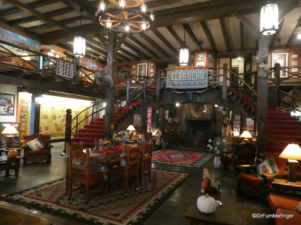Lobby of the historic Route 66 El Rancho Hotel, Gallup, New Mexico