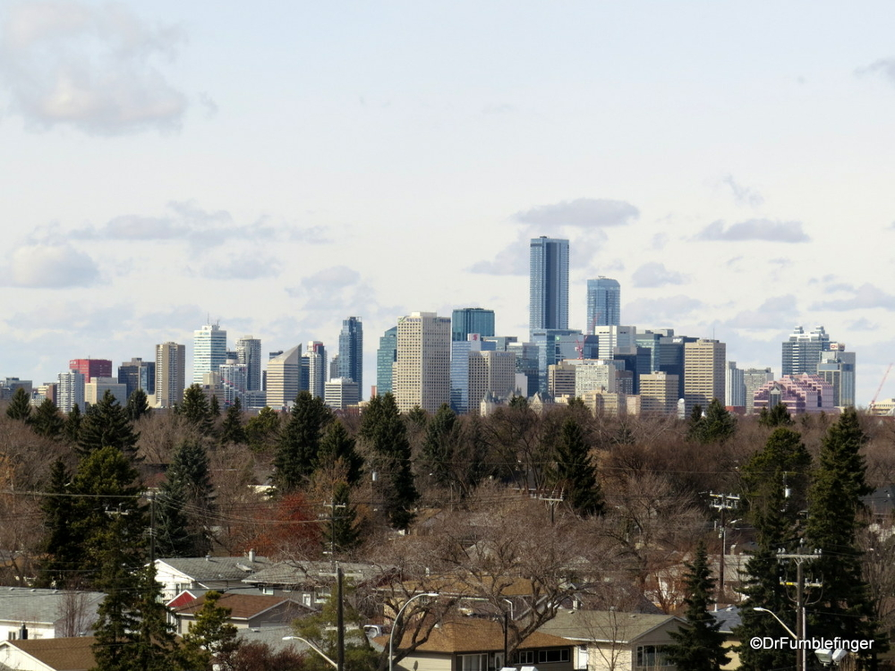 Edmonton's Skyline, viewed from the southeast