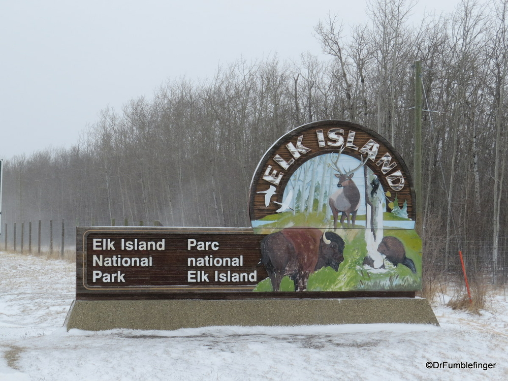 Entry to Elk Island National Park, about 40 minutes from Edmonton