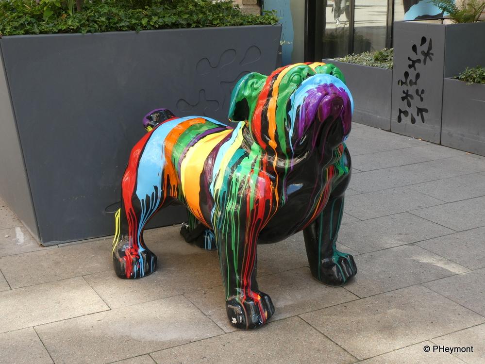Street Art: Painted Pug