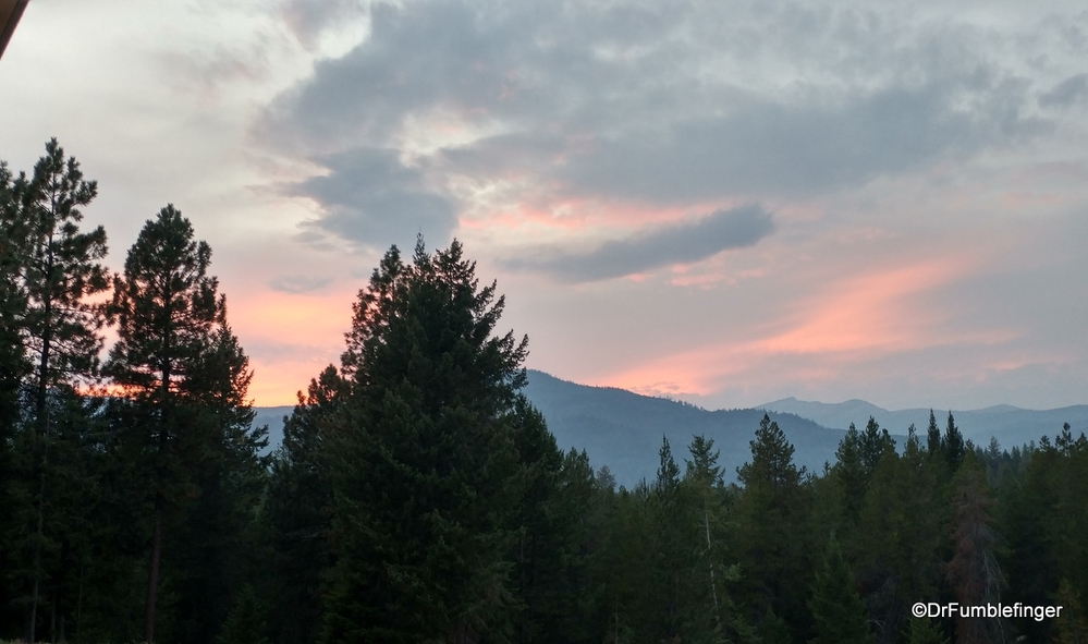 Tonight's sunset, from the back deck of our new place in Idaho